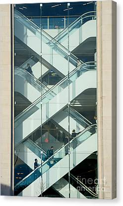 Canvas Print featuring the photograph The Escalators by Colin Rayner