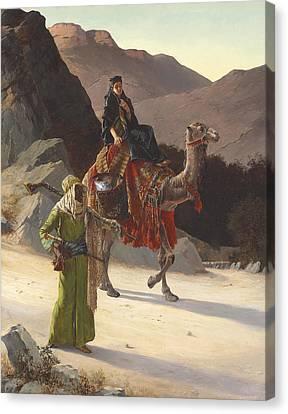 The Escort Canvas Print by Rudolf Ernst