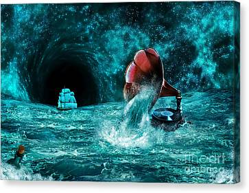 Canvas Print featuring the digital art The Eternal Ballad Of The Sea by Olga Hamilton
