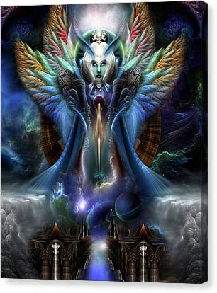 The Eternal Majesty Of Thera Fractal Portrait Canvas Print