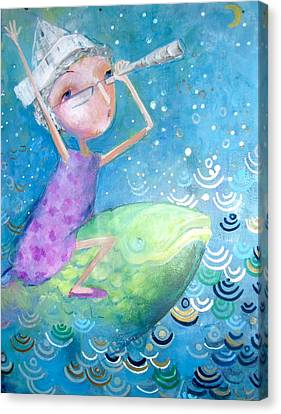 Canvas Print featuring the painting The Eternal Quest by Eleatta Diver