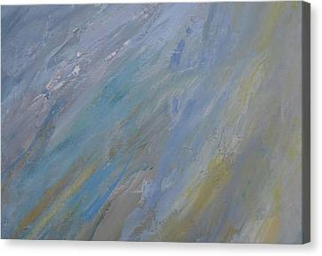 Silver Turquoise Canvas Print - The Evening And The Morning  by Laurie Hein