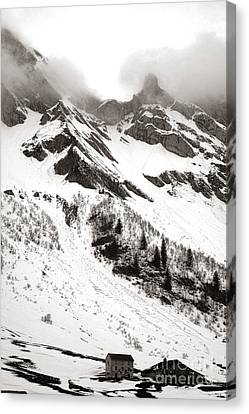 The Ever Overwhelming Mountain Canvas Print by Olivier Le Queinec