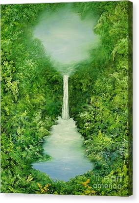 Mystical Landscape Canvas Print - The Everlasting Rain Forest by Hannibal Mane