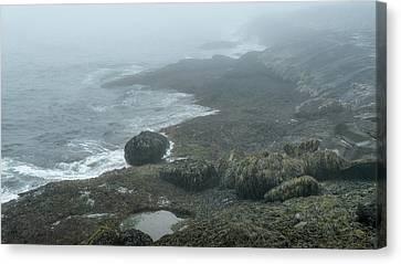 Rocky Maine Coast Canvas Print - The Evolution Of Rocks by Joseph Smith