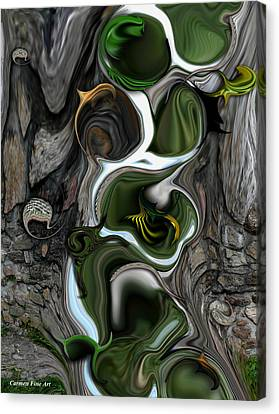 Canvas Print featuring the digital art The Evolving Dimensionality by Carmen Fine Art