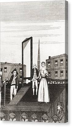 The Execution Of Charlotte Corday Canvas Print