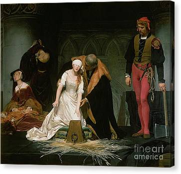 Mary Canvas Print - The Execution Of Lady Jane Grey by Hippolyte Delaroche
