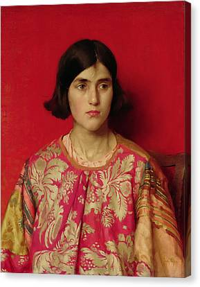 The Exile - Heavy Is The Price I Paid For Love Canvas Print by Thomas Cooper Gotch