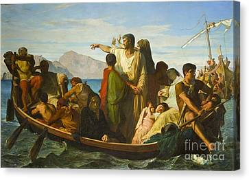 The Exiles Of Tiberias  Canvas Print
