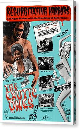 Horror Fantasy Movies Canvas Print - The Exotic Ones, Aka The Monster And by Everett