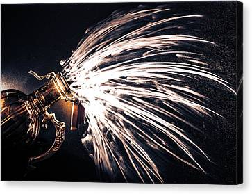 The Exploding Growler Canvas Print by David Sutton