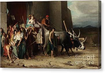 The Expulsion Or La Patricienne Romaine Expulsee Canvas Print