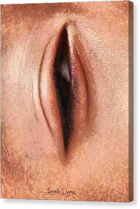 The Eye - Da Canvas Print by Leonardo Digenio