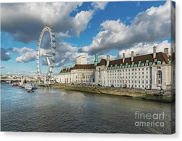 The Eye London Canvas Print by Adrian Evans