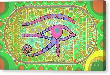 Horus Canvas Print - The Eye Of Ra By Mb by Mary Bassett