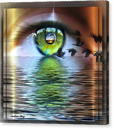 The Eye Of The Observer Canvas Print by Nadine May
