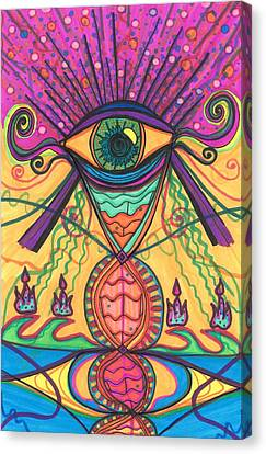 Daina Canvas Print - The Eye Opens... To A New Day by Daina White