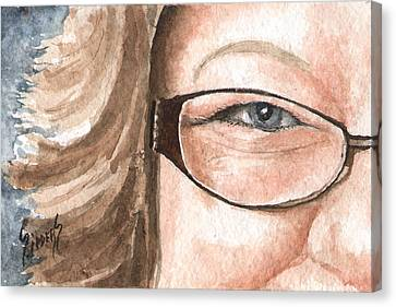 The Eyes Have It - Emma Canvas Print by Sam Sidders
