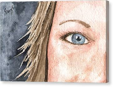 The Eyes Have It - Jill Canvas Print by Sam Sidders