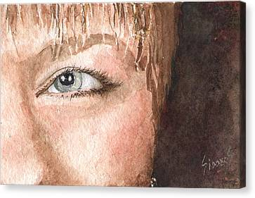 The Eyes Have It - Shelly Canvas Print by Sam Sidders