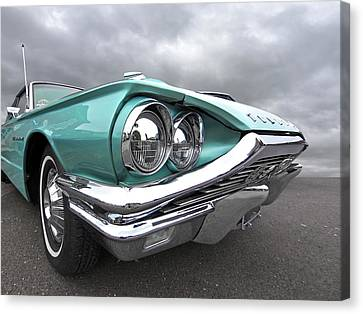 Canvas Print featuring the photograph The Eyes Have It - 1964 Thunderbird by Gill Billington