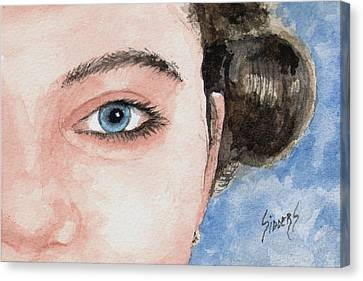 The Eyes Have It  - Audrey Canvas Print by Sam Sidders