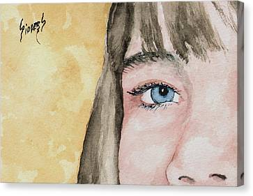 The Eyes Have It - Bryanna Canvas Print by Sam Sidders