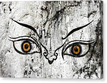The Eyes Of Guru Rimpoche  Canvas Print by Fabrizio Troiani