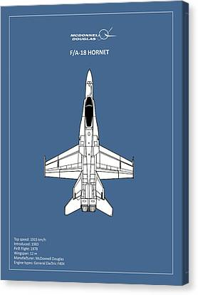 The F-18 Hornet Canvas Print by Mark Rogan