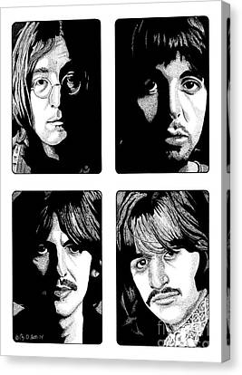 The Fab Four Canvas Print by Cory Still