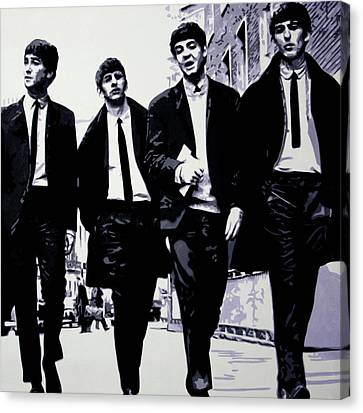 The Fab Four Canvas Print by Luis Ludzska