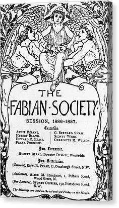 The Fabian Society Report Canvas Print by Walter Crane