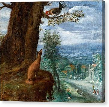 The Fable Of The Fox Canvas Print
