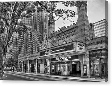 The Fabulous Fox Theatre Bw Atlanta Georgia Art Canvas Print by Reid Callaway
