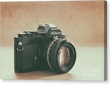 Canvas Print featuring the photograph The Fabulous Nikon by Ana V Ramirez