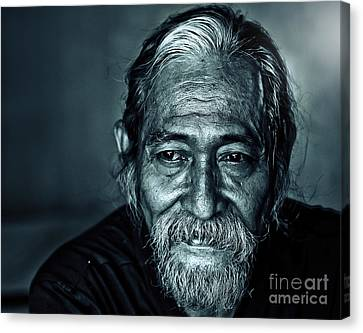 The Face Canvas Print by Charuhas Images