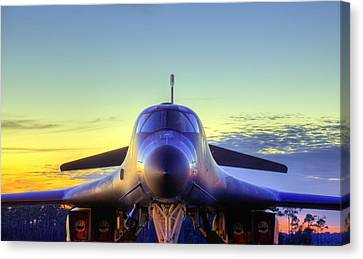 Canvas Print featuring the photograph The Face Of American Airpower by JC Findley