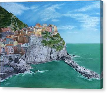 The Face Of Manarola Canvas Print