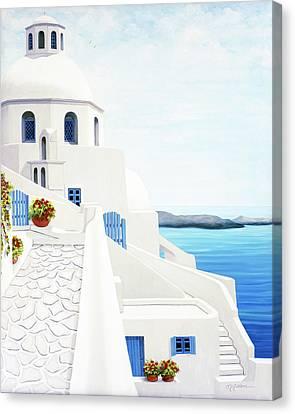 The Face Of Santorini Canvas Print
