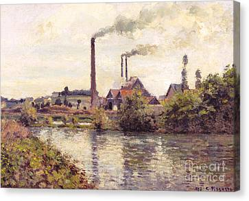 The Factory At Pontoise, 1873 Canvas Print