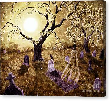 The Fading Memory Of Lenore Canvas Print by Laura Iverson