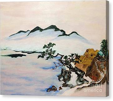 The Fading Spirit Of Chikanobu Awakened By Shintoism Canvas Print by Sawako Utsumi