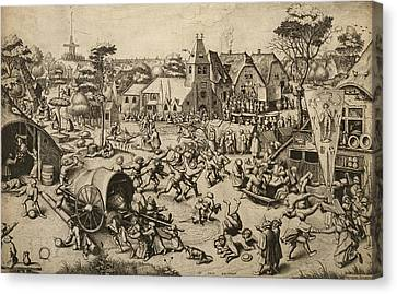 The Fair Of Saint George's Day Canvas Print by Pieter Bruegel the Elder