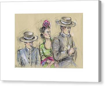 The Fair Of Seville Or Sevilla Feria Canvas Print by Jill Bennett