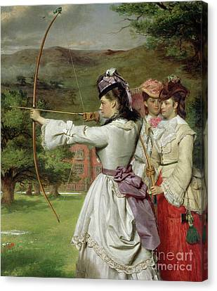 The Fair Toxophilites Canvas Print by William Powell Frith