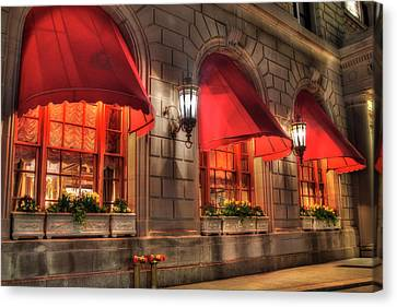 Canvas Print featuring the photograph The Fairmont Copley Plaza Hotel - Boston by Joann Vitali