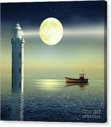 The Fairy Lighthouse Canvas Print by Monika Juengling