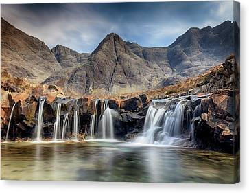 Canvas Print featuring the photograph The Fairy Pools - Isle Of Skye 3 by Grant Glendinning