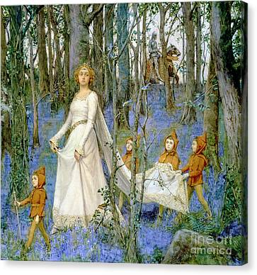 Elves Canvas Print - The Fairy Wood by Henry Meynell Rheam